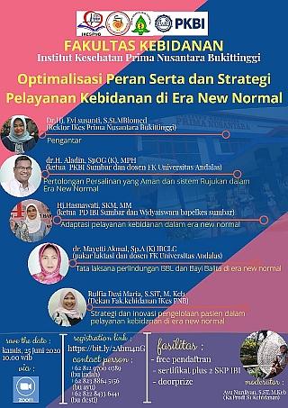 Webinar Kebidanan Nasional : Optimalisasi Peran Serta dan Strategi Pelayanan Kebidanan di Era New No